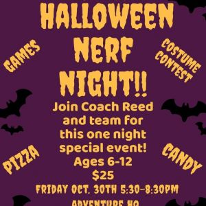 10/30 Halloween Nerf Night: Lil Sports